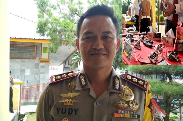 Kapolres Lamtim AKBP Yudy Chandra Erlianto Ungkap Peredaran Senpi, Ternyata di Jabung ada Gudangnya