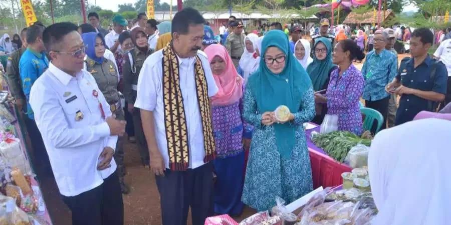 Asisten I Provinsi Lampung Wakili Gubernur Lakukan Penilaian Lomba Desa Tingkat Provinsi