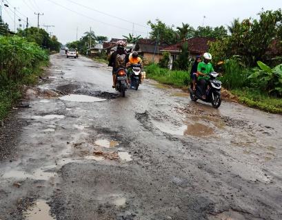 Miris Ruas Jalan Kampung Sukowati-Tanggul Angin Rusak Parah, Masyarakat Kecewa Belum Ada Perbaikan Dari Pemda Lamteng