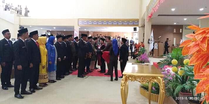 Resmi Dilantik, 35 Anggota Dewan Mesuji Periode 2019-2024 Disumpah Janji Jabatan