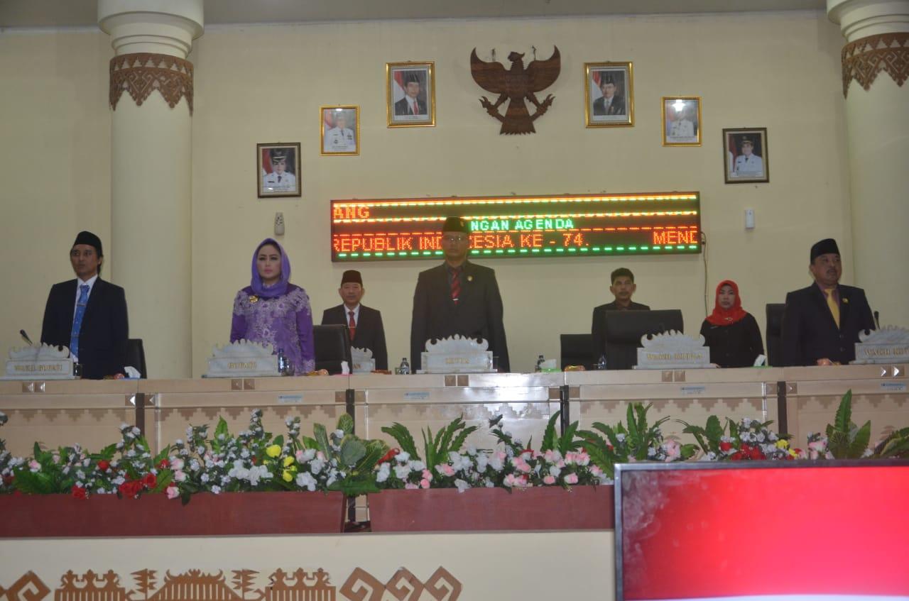 Peringati HUR RI Ke-74, DPRD Tulang Bawang Gelar Rapat Paripurna Pidato Presiden RI
