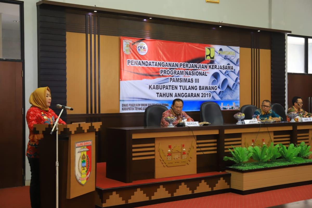 Ini Program Presiden Jokowi, Bupati Winarti Minta PAMSIMAS Terlaksana Dengan Baik
