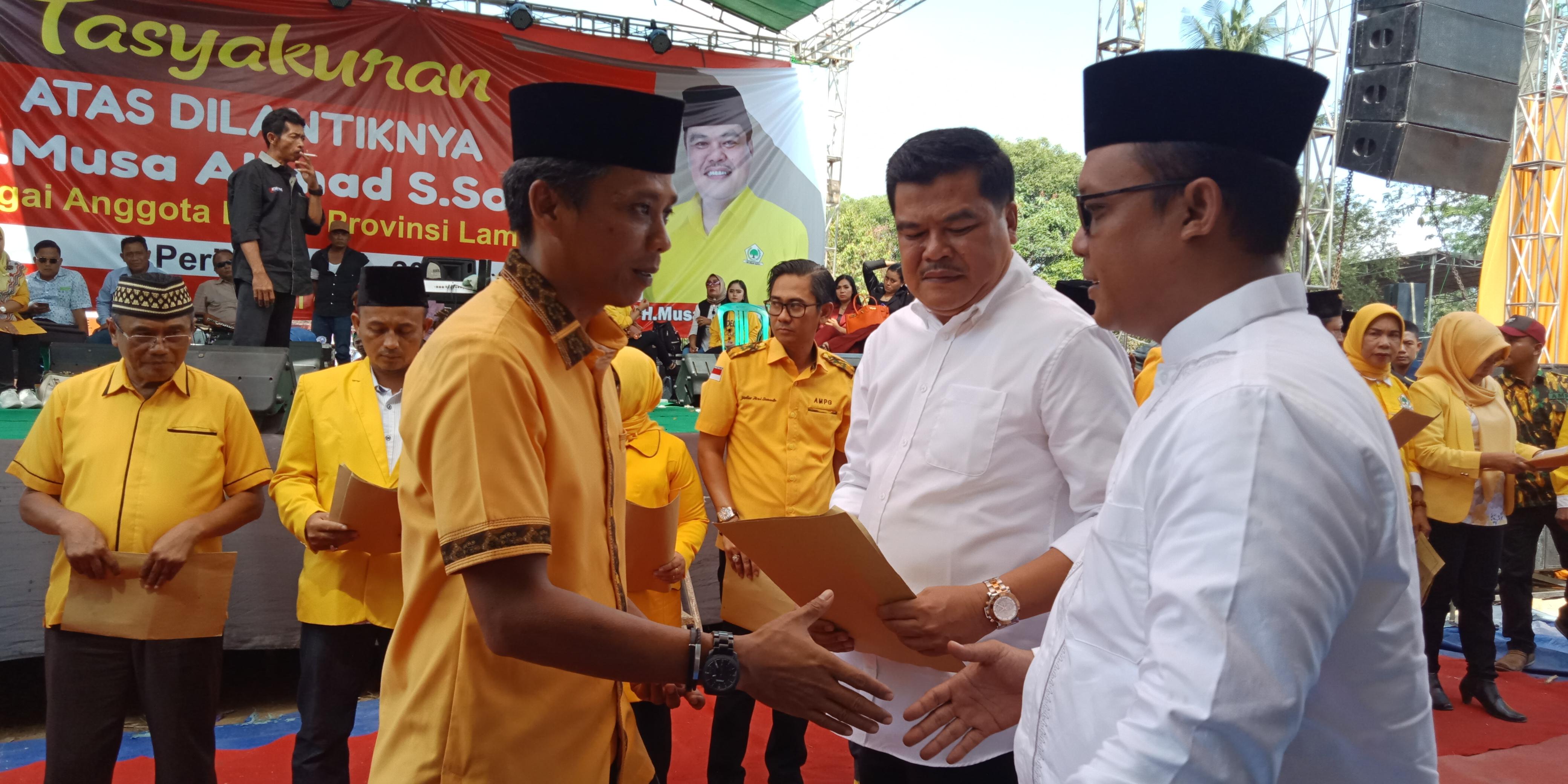 Baru Jadi Anggota DPRD, Masyarakat Minta Musa Ahmad Jadi Bupati Lamteng