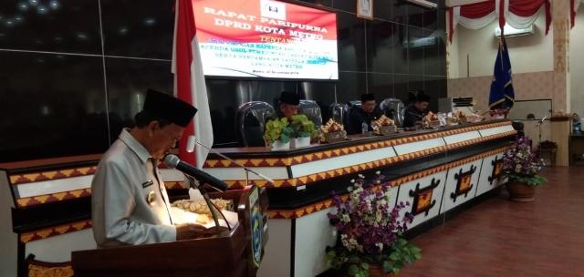 Walikota Metro A.Pairin Sampaikan 4 Raperda Dalam Rapat Paripurna DPRD