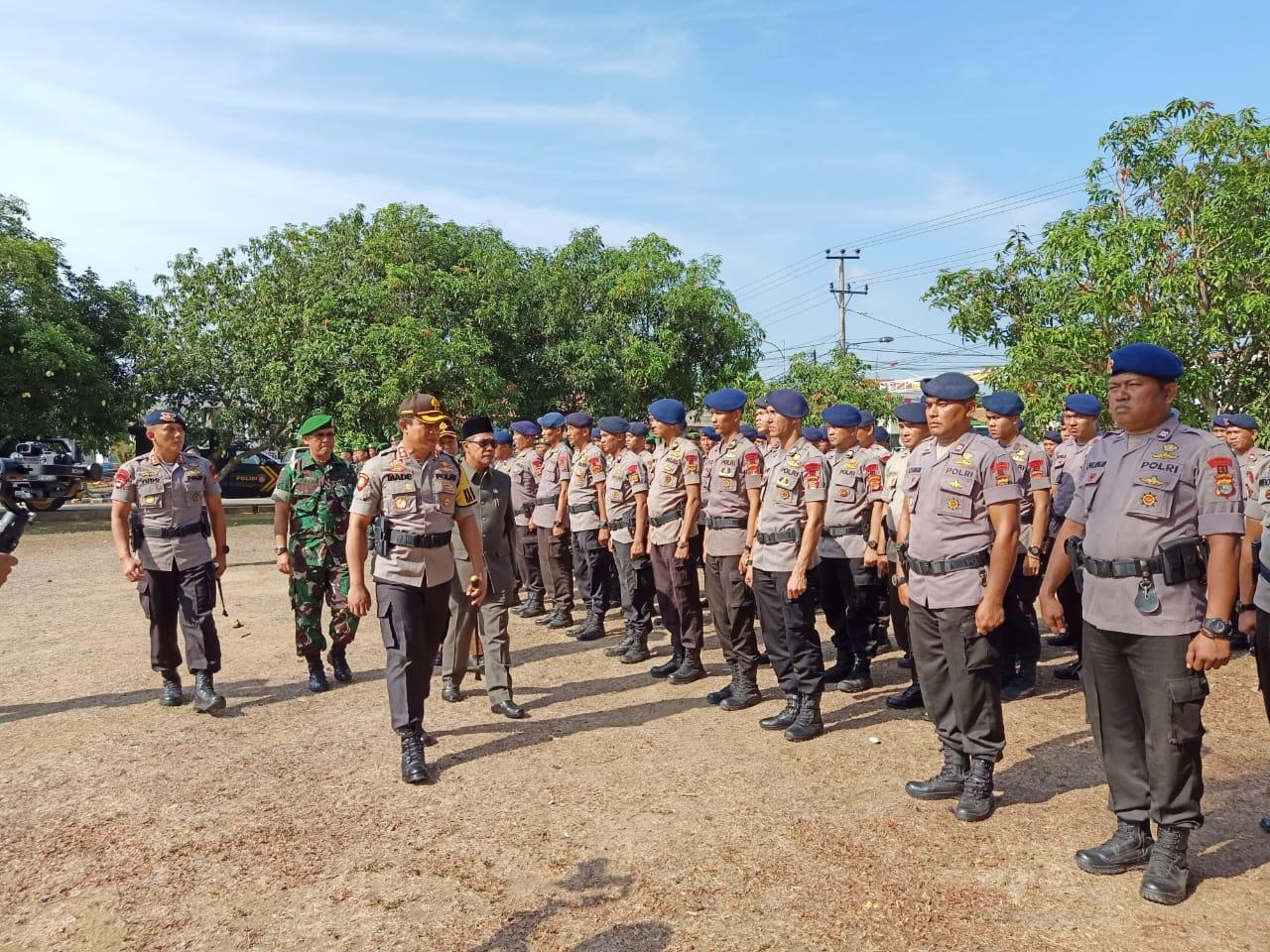 Polres Lamteng Siapkan 1.082 Personil Antisipasi Rawan Konflik Saat Pilkakam