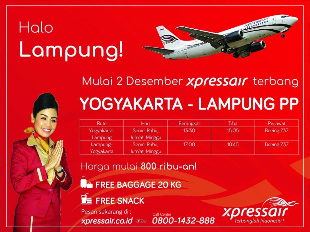 Wahyu Aria Sakti : Express Air Buka Penerbangan Yogyakarta-Lampung