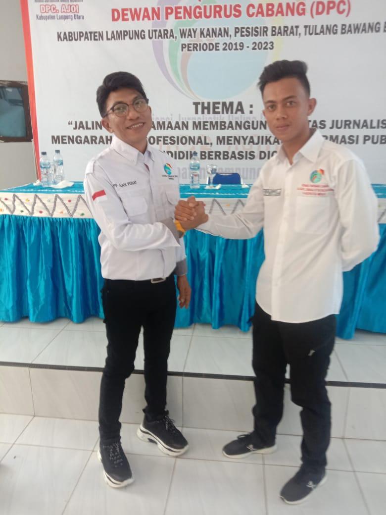 DPD Ajoi Provinsi Lampung Lantik Pengurus Empat DPC di Lampura